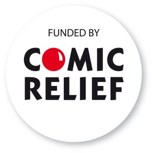 Thanks to comic relief for donating money for part payment for music centre and synchro volunteer training