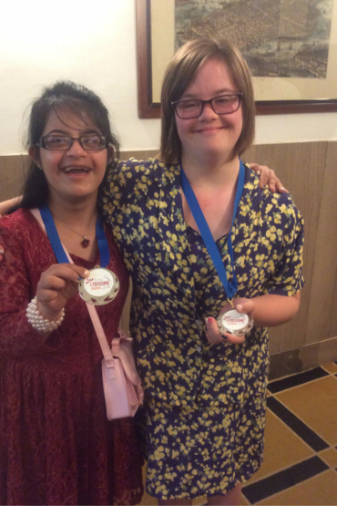 Molly Khan & Vivian Novis win SILVER at the World Down' Syndrome Championships
