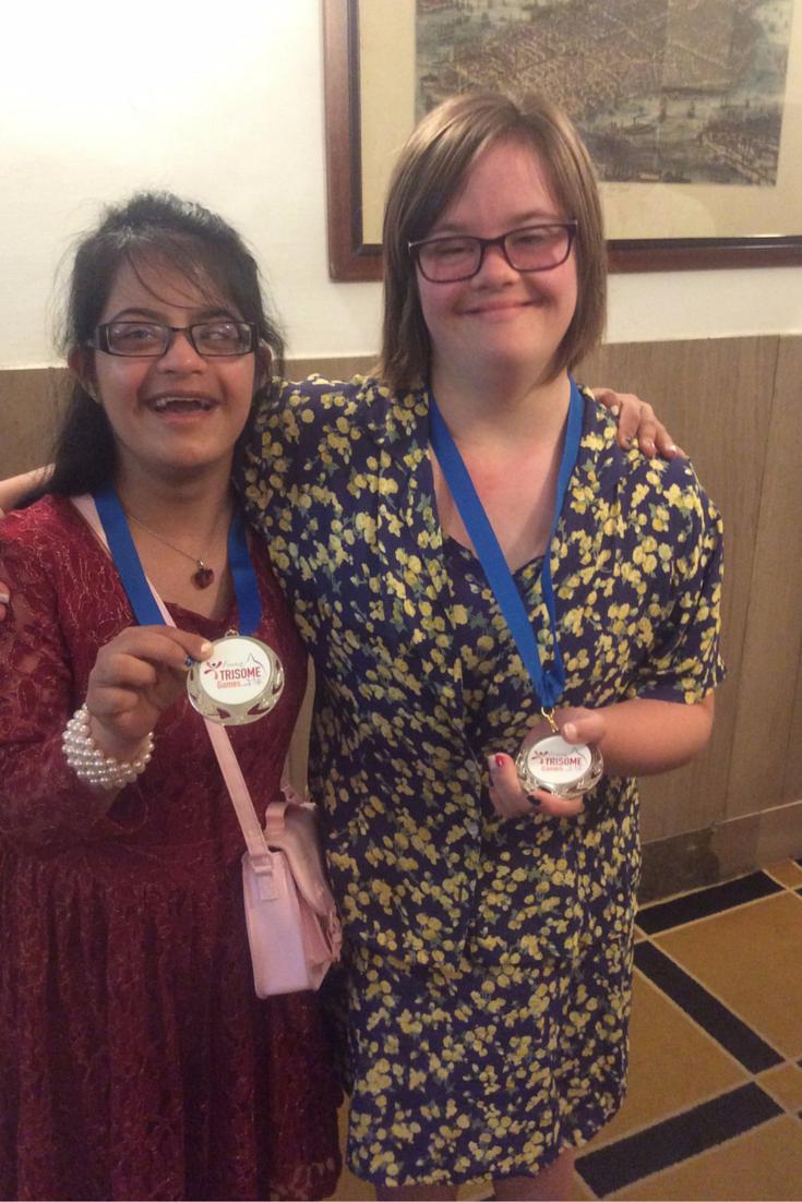 Molly Khan & Vivian Novis win SILVER at the World Down' Syndrome Championships