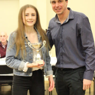 Award to Amie presented by Graham Edmunds Double Gold Paralympic Medalist & Patron of the club