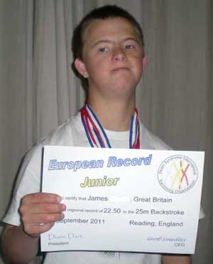 Well Done to James who adds the European 25m Backstroke record to his European 25m Freestyle Record
