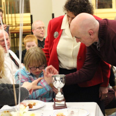 Award to Olivia presented by Mike Sells Windsor Lions Club