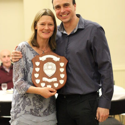 Award to Alison presented by Graham Edmunds Double Gold Paralympic Medalist & Patron of the club