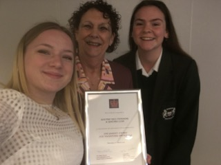 The Electric Eels Volunteers were presented with a certificate to commemorate being nominated for the Queen's Award To Volunteering