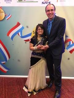 Molly Khan won a Special award at the Reading Sports Personality awards